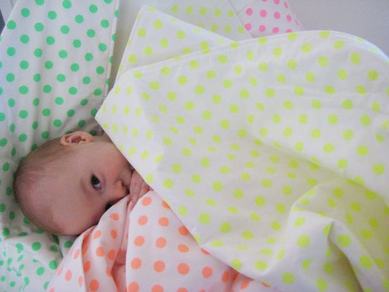Modern Baby Bedding ... Neon Yellow Dots ... Made to Order