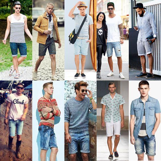 men's roll-cuff, slim-fit, cigarette shorts fashion trend