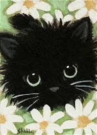 Image result for black cat acrylic painting