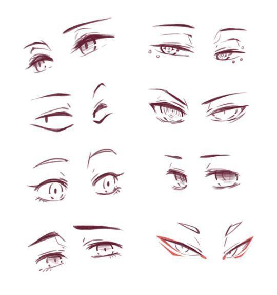 Mas De 12 Ideas Asombrosas Para Asimilar A Dibujar Luceros Anime Eye Drawing Eye Drawing Drawing Expressions