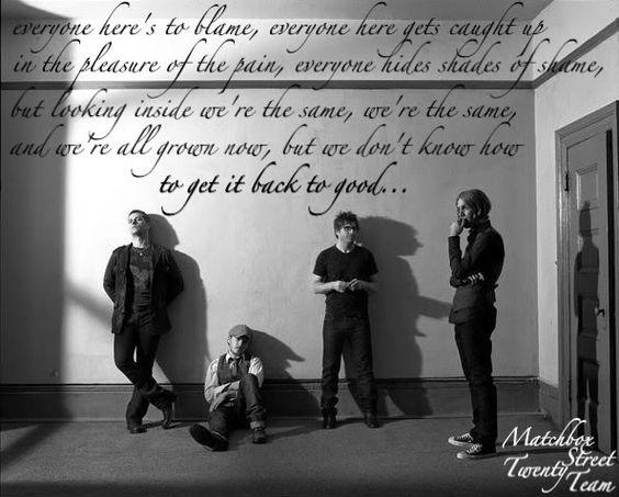 Matchbox Twenty - Back 2 Good Lyrics | SongMeanings