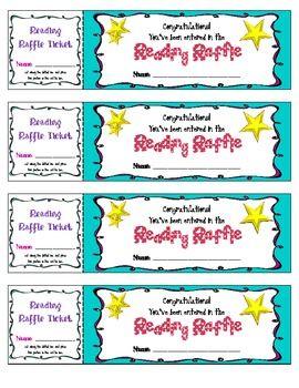 Reading Raffle ticket: