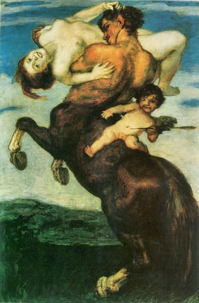Rape Of A NymphFranz von Stuck (1863 – 1928, German)