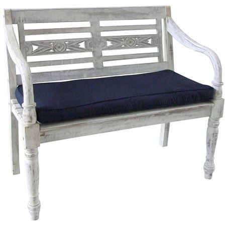 Sitzauflage mit 6cm Schaum-/Vliesfüllung für unsere Gartenbank William, Art.-Nr. 14577154 und 14577157.