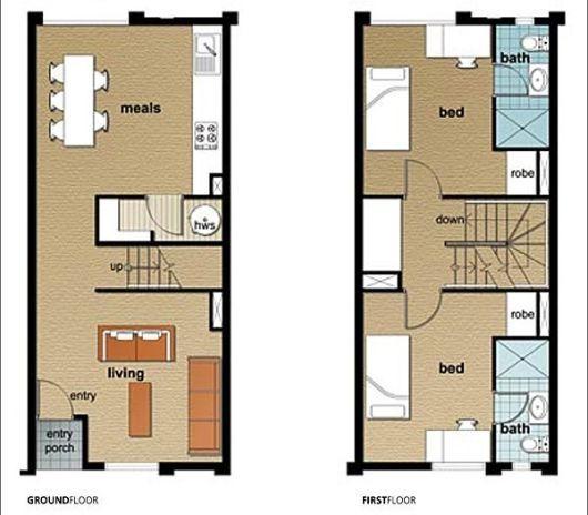 planta casa duplex 60m - Pesquisa Google