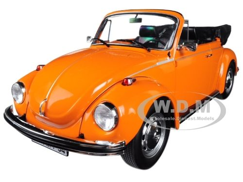 VW Käfer Beetle 1303 Volkswagen Cabriolet Cabrio orange 1:18 Norev Neu 188521
