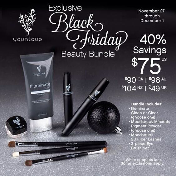 Check out Younique's awesome Black Friday deal!!  www.youniqueproducts.com/CatPurlee