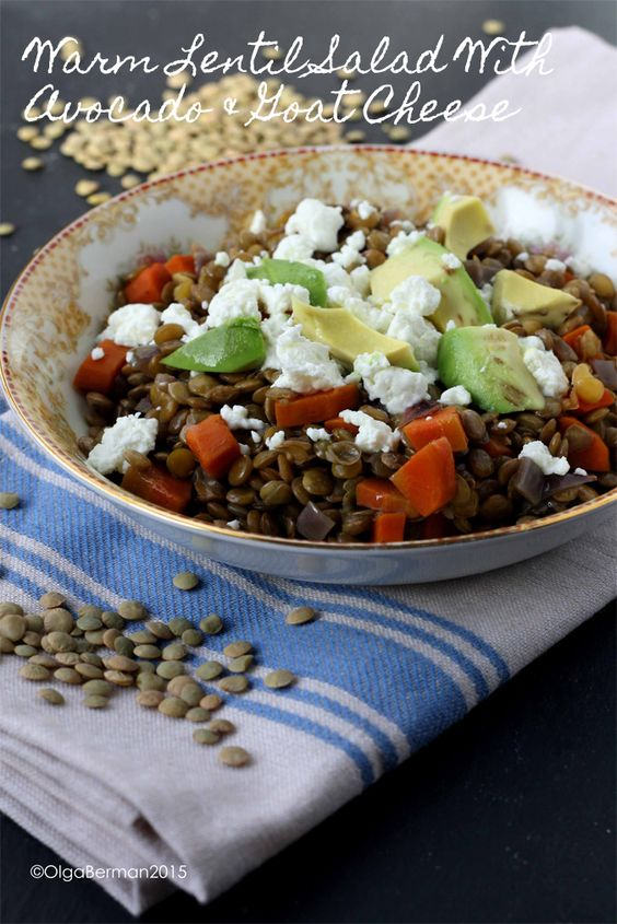 lentil salad warm lentils meatless monday goat cheese salads salad ...