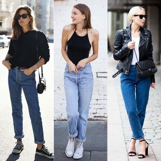 O estilo minimal é super tendência (sempre!), mas aqui vem com a pegada despretenciosa do mom jeans. APOSTE!