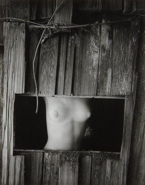 Wynn Bullock - Torso in window (1954)