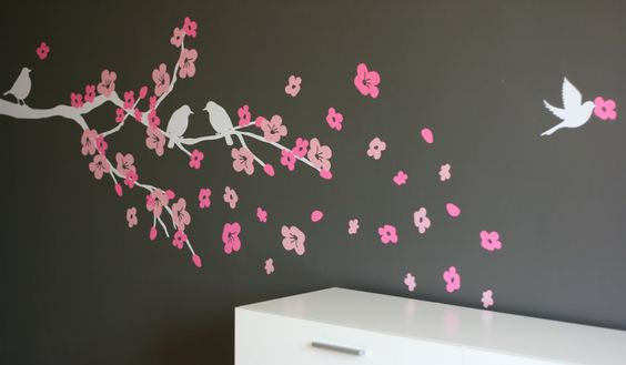 cherry blossom decal - cute
