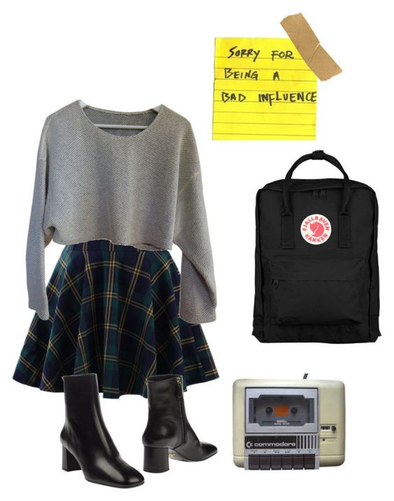 """bad influence"" by nbhddad on Polyvore featuring Chicwish, American Apparel, Prada and Fjällräven:"