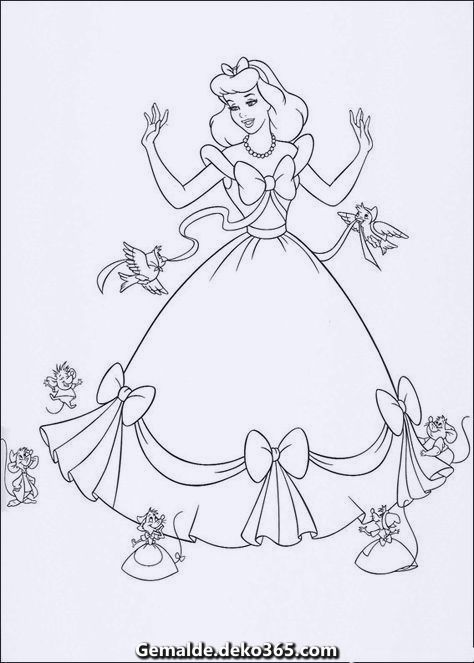 Spektakular Malvorlagen Disney Princess Ausmalbilder Cinderella Coloring Pages Disney Princess Coloring Pages Princess Coloring Pages