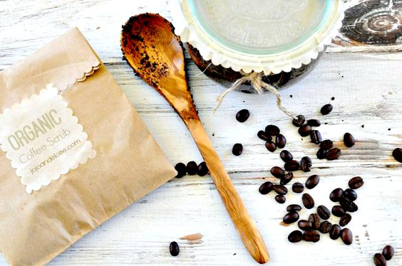 Homemade organic coffee scrub makes a perfect Mother's Day gift! @A T The Picket Fence