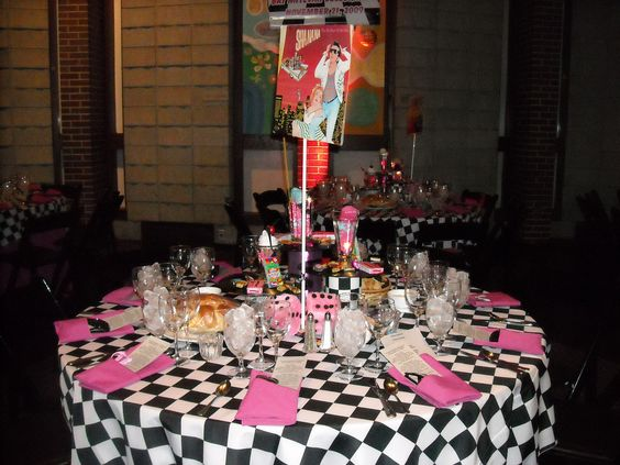 Sock Hop Table Setting   Just Photos