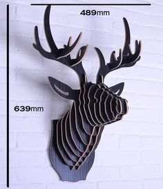 tete de cerf en carton patron recherche google origami. Black Bedroom Furniture Sets. Home Design Ideas