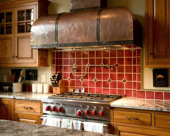 Steampunk Design, Pictures, Remodel, Decor and Ideas LOVE THIS STOVE HOOD IN BLACK TO MATCH MY LA CORNU STOVE OR JUST LIKE THIS WOULD DO AS WELL.