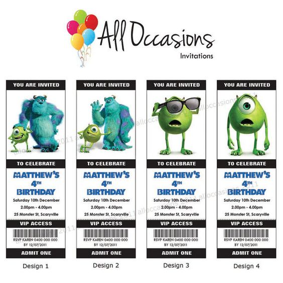 Personalised+Custom+Monsters+Inc+Birthday+by+DesignsAllOccasions,+$10.95