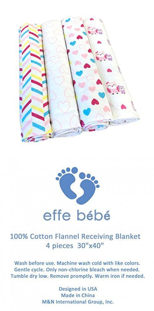 Effe Bebe 100 Cotton Flannel Baby Receiving Blanket With Images Baby Receiving Blankets Cotton Flannel Receiving Blankets