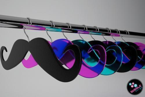 Mustache Hangers!