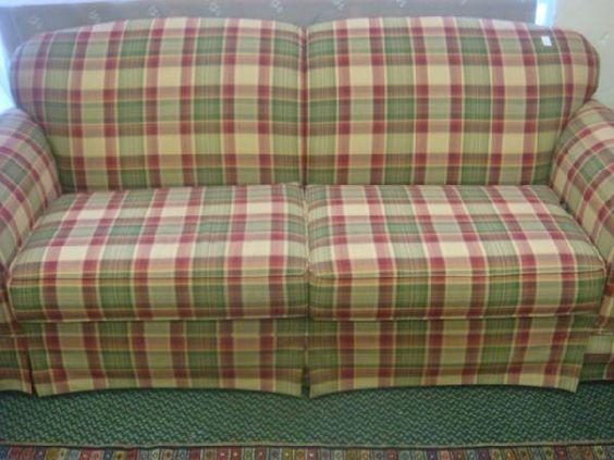 Elegant Country Plaid Sofa And Loveseat | 184: BROYHILL Plaid Upholstered Sofa: |  Cottage Interior | Pinterest | Plaid Sofa, Country And Cottage Interiors