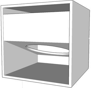 Projeto Do Tipo W Horn Compacta Para Alto Falante De 18 Polegadas