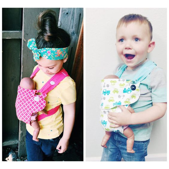 Toys For Siblings : Children s kids baby doll carrier ergo bjorn toy big