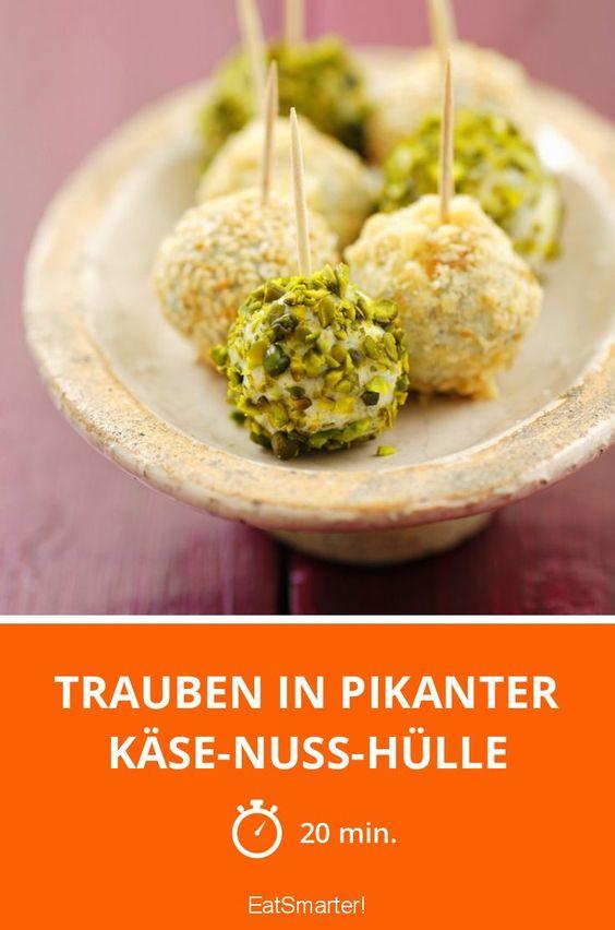 Trauben in pikanter Käse-Nuss-Hülle - smarter - Zeit: 20 Min. | eatsmarter.de