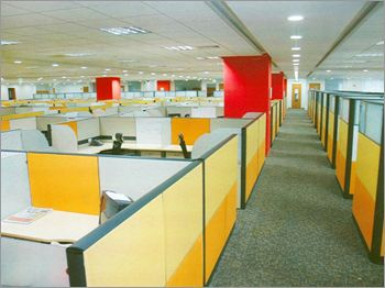 is this best cubicles design your office with red column and yellow panel best office cubicle design