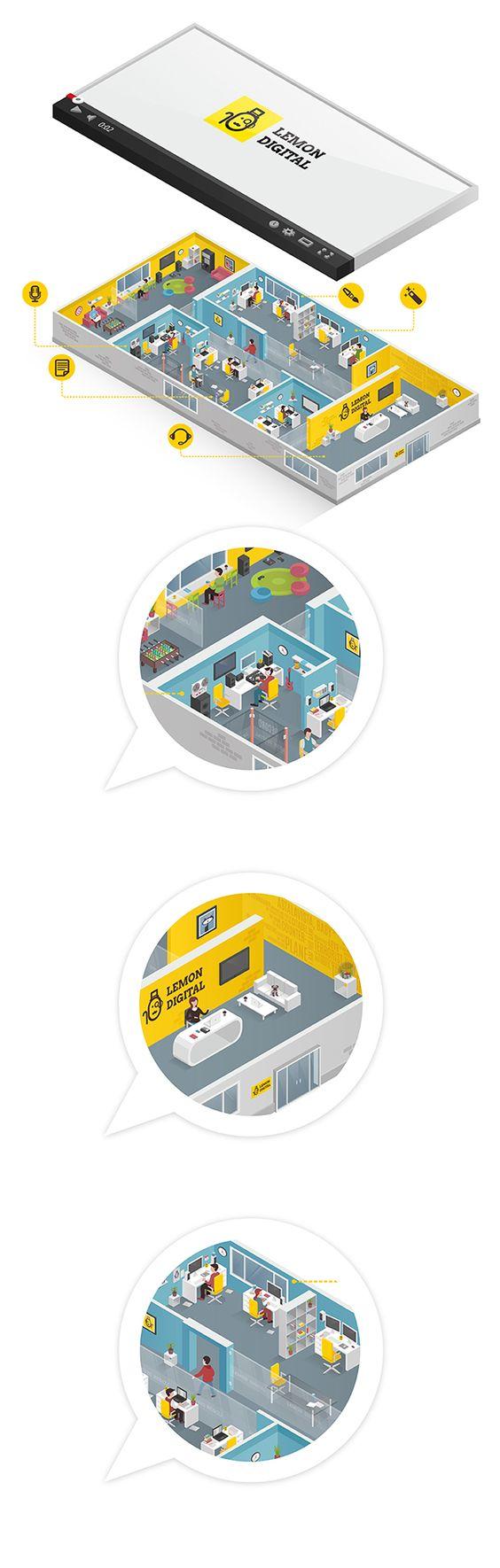 """Office """"Lemon Digital"""" on Behance"""