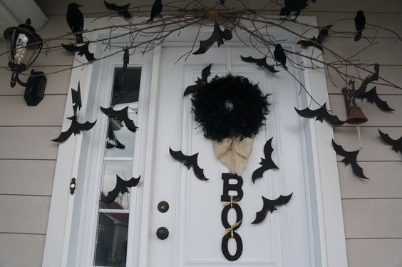 Halloween porte d'entrée