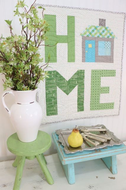 Inspirational Home Quilt Happy Spelling Bee Saturday everyone! If you are sewing along with us... We are on row three of the Alphabet Sampler! If y...