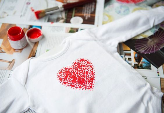 Doily babygros . Fancy creating a one-of-a-kind babygro? All it takes is a doily, some fabric dye and a spare afternoon. Here's how…
