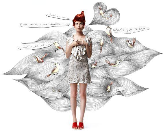 me & oli: the birds & the beards + let's fall dress