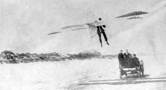 """NOTE: """"I have found this to be dangerous. A machine, which if free would be perfectly safe, is made as erratic as a child's kite by the attachment of a rope. I, for one, shall seek other means of getting into the air."""" 