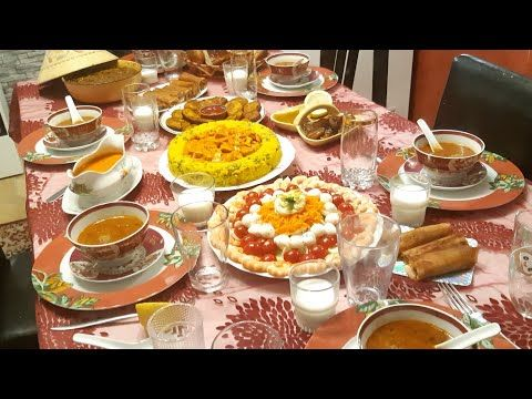 إقتراح طاولة رمضان للضيوف باطباق رائعة سريعة تحمر الوجه أجواء الإفطار Menu Ramadan Youtube Menu Ramadan Table