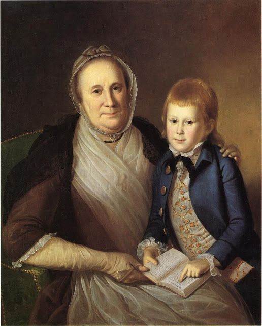 1775 Charles Willson Peale (American artist, 1741-1827) Mrs James Smith with her grandson