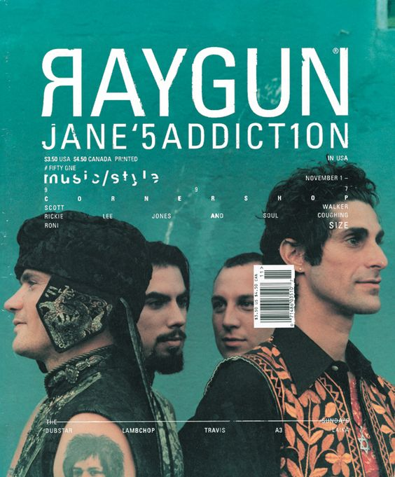 Ray Gun was an American alternative rock and roll magazine, first published in 1992 led by founding art director David Carson. David Carson is best known for his innovative magazine designs and dec...