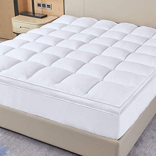 New D G The Duck And Goose Co Extra Plush Thick Mattress Topper King Size Deep Pocket Firm Pillowtop Bed Topper Overfilled 200oz Down Alternative Fiber Gu In 2020 Thick