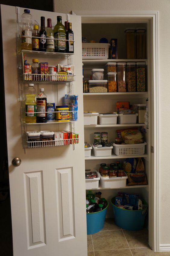 I finally broke down and quit talking about the need to organize my pantry, and just did it!  Took me about 2 hours total and all the organization items came from Walmart (could have done Dollar Tree too...will go back there for more.)