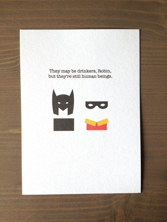 Batman and Robin Card by FourDogsCardCo