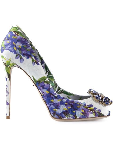 Shop Dolce & Gabbana 'Bellucci K' pumps in Spinnaker 141