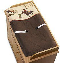 """Wild West Cowboy Western Horse Baby Boys Changing Pad Cover by JoJo Designs by JoJo Designs. $32.96. JoJo Designs Changing Pad Covers are especially created to coordinate with their nursery bedding sets to complete the look and feel of the bedroom theme for your child.  Our Changing Pad Covers fit all changing pads up to 17"""" x 31""""."""