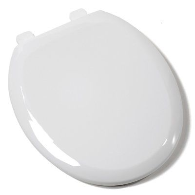 Comfort Seats Ez Close Premium Plastic Round Toilet Seat Finish