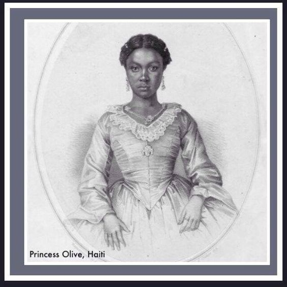 HISTORY | Her Serene Highness Princess Olive, Daughter of Emperor Soulouque. Haiti C. 1858