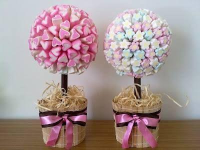 Festa Infantil = Vasos de flores X guloseimas