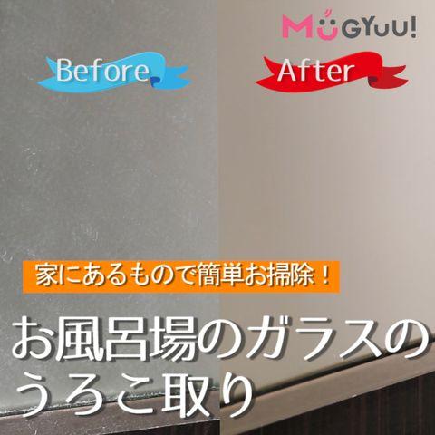家にあるもので簡単お掃除 お風呂場のガラスのうろこ取り 鏡 掃除