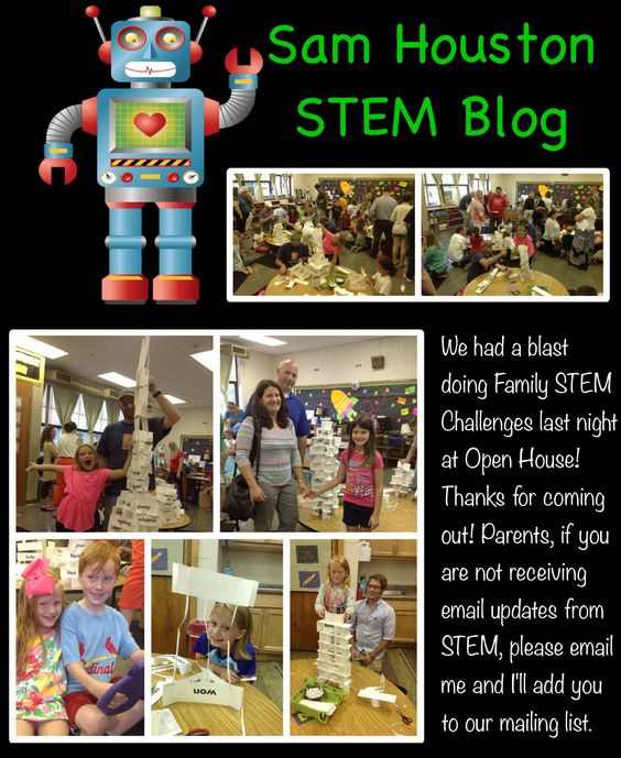 Open House In The STEM Room Family Design Challenge