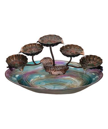 Look at this #zulilyfind! Metal & Glass Fountain #zulilyfinds