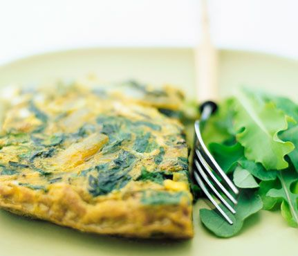 Easy Eggs: 1 whole egg, 2 egg whites, a handful of baby spinach cooked in 1 tsp. of olive oil. ~375 calories